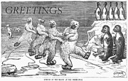 Christmas: Polar Bears Print by Granger