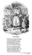 Father Christmas Prints - Christmas Pudding, 1838 Print by Granger