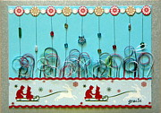 Gracie Mixed Media Originals - Christmas Sled by Gracies Creations