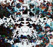 Abstract Snow Prints - Christmas Snow Flake Print by Joshua Sunday