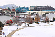Chattanooga Tn Framed Prints - Christmas Snow Framed Print by Tom and Pat Cory
