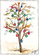 Christmas Notecard Originals - Christmas Spirit Christmas Tree by Michele Hollister - for Nancy Asbell