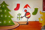 Emotion Paintings - Christmas Spirit by Cory Green