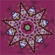 Quilt Posters - Christmas Star Poster by Bonnie Bruno
