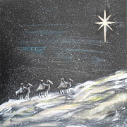 Worship God Paintings - Christmas Star by Diane Wigstone