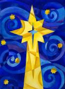 Manger Posters - Christmas Star Poster by Mark Jennings