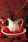 Nut Photos - Christmas still life by Garry Gay