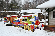 Holiday Decoration Posters - Christmas Train Poster by Tom and Pat Cory