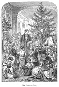 Father Christmas Prints - Christmas Tree, 1870 Print by Granger