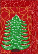 Christmas Card Drawings Framed Prints - Christmas Tree 2 Framed Print by Jessica Hallberg