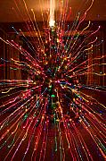 Christmas Tree Colorful Abstract Print by James Bo Insogna