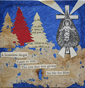 Baby Jesus Mixed Media Prints - Christmas tree Print by Kent Mullens