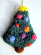 Holiday Tapestries - Textiles - Christmas Tree Ornament by Kimberly Simon