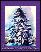 Susan Kinney Prints - Christmas Tree Print by Susan Kinney