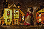 Christmas Village Posters - Christmas Village Poster by Bonnie Bruno