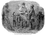 Streetlight Photos - Christmas Waits, 1848 by Granger