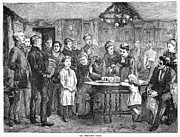 Servant Prints - Christmas Waits, 1872 Print by Granger