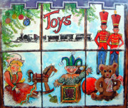 Jack-in-the-box Posters - Christmas Window Poster by Linda Shackelford