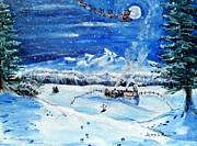 Santa Claus Paintings - Christmas Wonderland by Shana Rowe