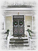 Foyer Prints - Christmas Wreathes  Print by Julie Hamilton