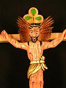 Chicano Mixed Media - Christo crucificado by George Chacon