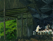 Berkshires Paintings - Christoph von Dohnanyi at Tanglewood by Jennifer Fox