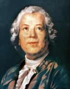 Cravat Framed Prints - Christoph Willibald Gluck Framed Print by Granger