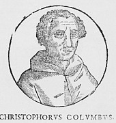 1400s Prints - Christopher Columbus, Italian Explorer Print by Middle Temple Library