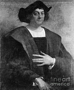 Cristoforo Framed Prints - Christopher Columbus, Italian Explorer Framed Print by Omikron