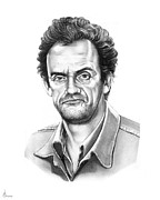 Christopher Drawings - Christopher Lloyd Taxi by Murphy Elliott