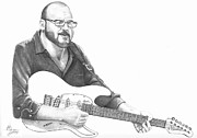 Guitar Drawings Originals - Christopher Murphy Elliott by Murphy Elliott
