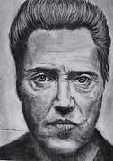 Deer Drawings Posters - Christopher Walken Poster by Eric Dee
