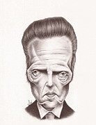 Christopher Drawings - Christopher Walken by Jamie Warkentin