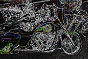 Harley Davidson Rally Prints - Chrome And Paint Print by Anthony Wilkening
