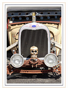 Chrome Skull Prints - Chrome Bones Print by Heather Lee
