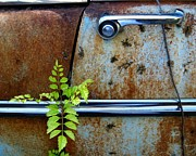 Rusted Cars Prints - Chrome Is Forever 3 Print by Mike Witte