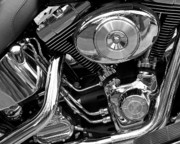 Two Wheeler Photo Prints - Chrome Print by Lynda Lehmann