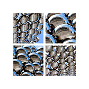 Shinny Prints - Chrome Spheres Print by Art Block Collections