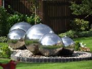 Garden - Chrome Steel water feature  by Dawn Hay