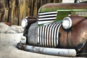 Old Chevrolet Truck Posters - Chromed Beauty  Poster by Reflective Moments  Photography and Digital Art Images