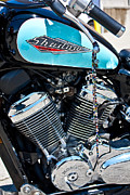 Honda Motorcycles Prints - Chromed Shadow Print by Aidan Minter