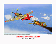 World War Two Photo Posters - Chronicle Of The Airmen Duchess Arlene Poster by Jerry Taliaferro