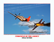 Tuskegee Airmen Prints - Chronicle Of The Airmen Final Victory Print by Jerry Taliaferro