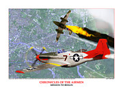 P-51-d Mustang Fighter Prints - Chronicles Of The Airmen - Mission To Berlin Print by Jerry Taliaferro