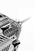 Nyc Digital Art Metal Prints - Chrysler Building Metal Print by Adspice Studios
