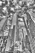 Nyc Digital Art Metal Prints - Chrysler building and friends Metal Print by Robert Ponzoni