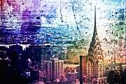 City Prints - Chrysler Building - Colorful - New York City Print by Vivienne Gucwa