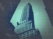 Beautiful Cities Digital Art Metal Prints - Chrysler Building  Metal Print by Irina  March