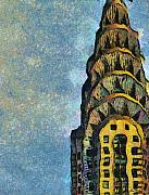 New York Pastels Posters - Chrysler Building New York Poster by Russ Harris