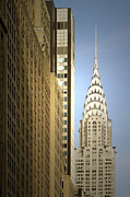 Metal Roofs Posters - Chrysler Building NYC - Streamlined majesty Poster by Christine Till